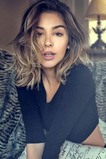 Idee coiffure cheveux mi long carre