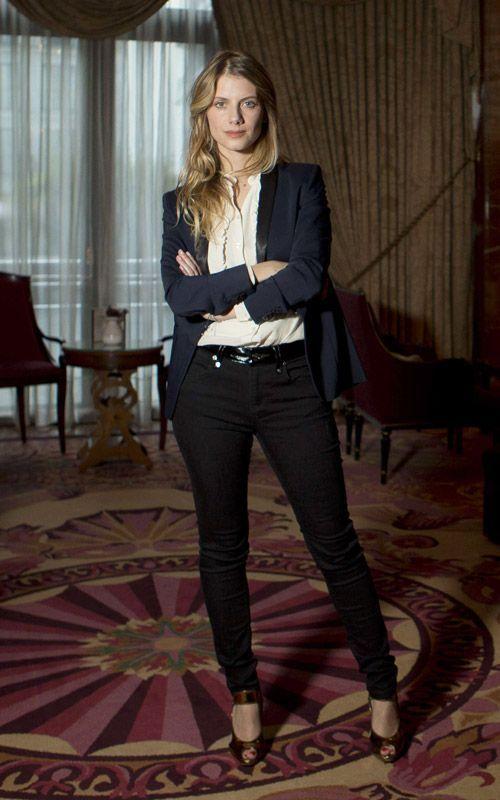 Mélanie Laurent en tailleur pantalon