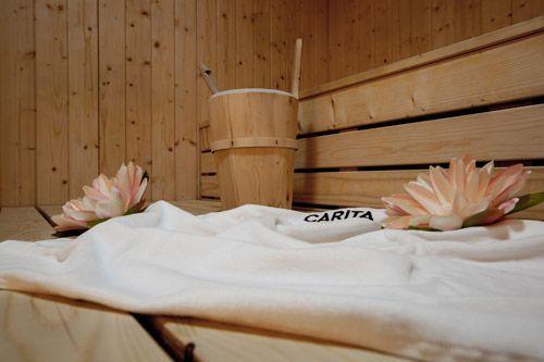 Le sauna du Spa by Carita de l'Hôtel de Chassieu