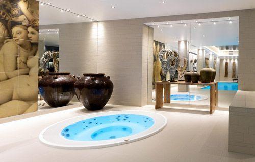 Les Bains turcs d'Ingre représentés dans le Spa by Carita de l'hôtel de Chassieu
