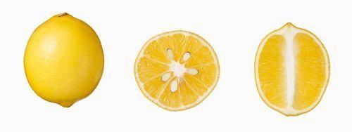 Des citrons jaunes.