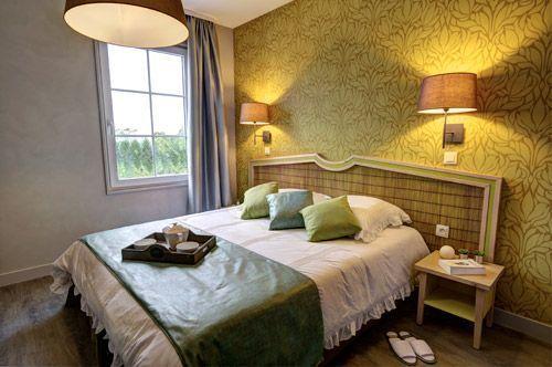 Une chambre du b'o resort en Normandie.