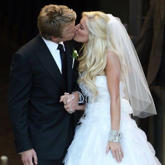 La coiffure de mariage d'Heidi Montag.