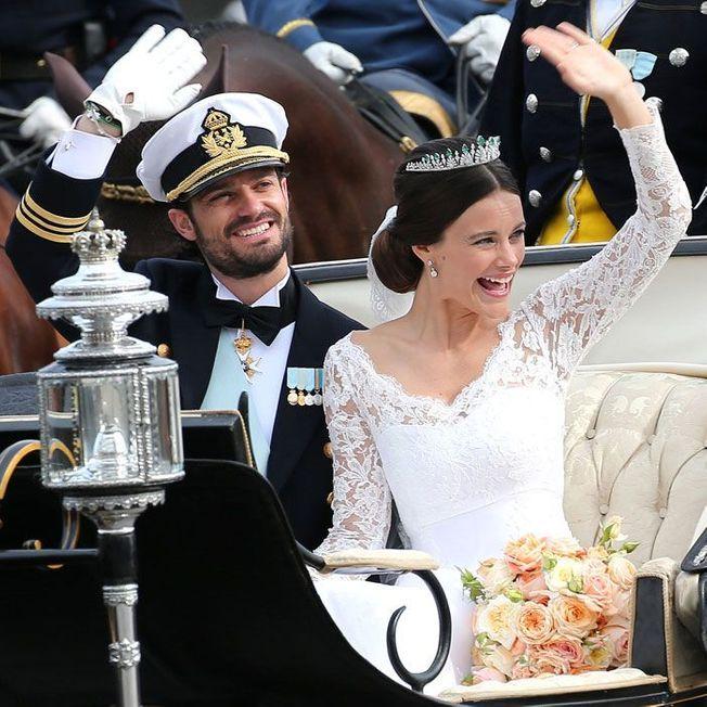 La coiffure de mariage de Sofia de Suède.