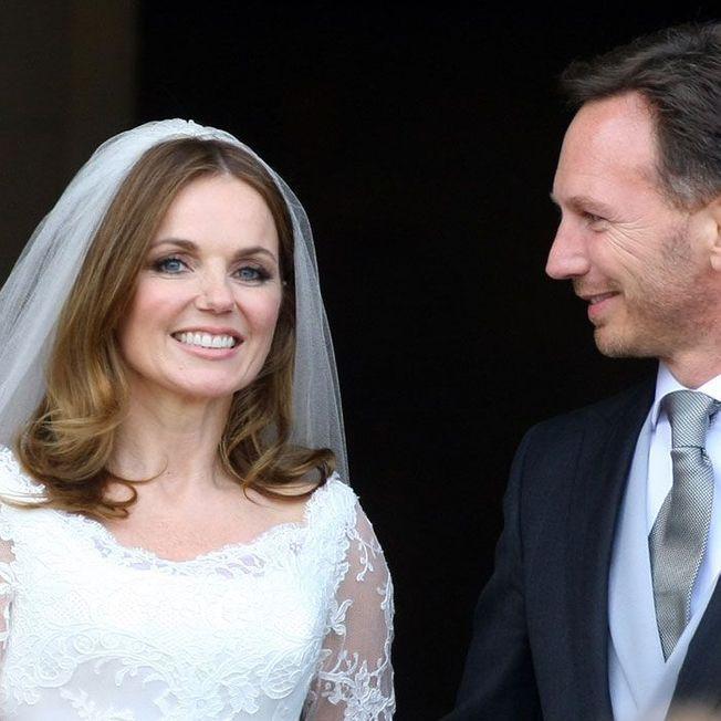 La coiffure de mariage de Geri Halliwell.