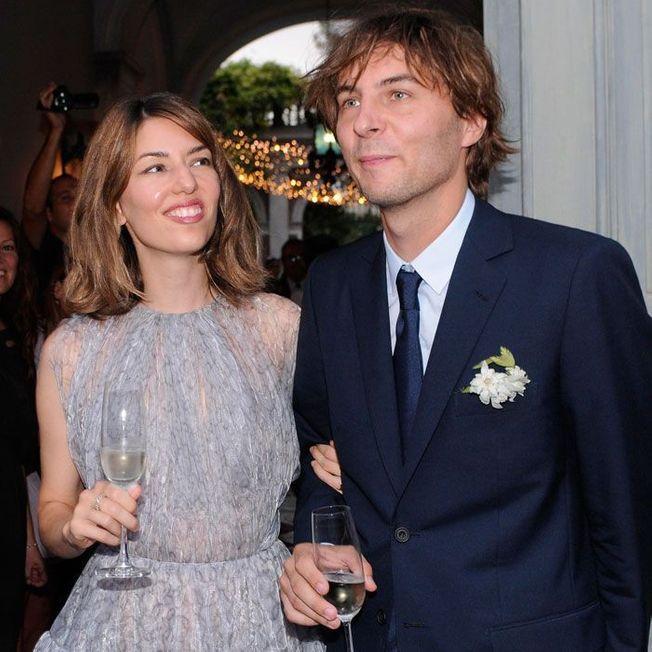 La coiffure de mariage de Sofia Coppola.