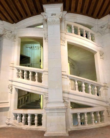 L'escalier du château de Chambord.