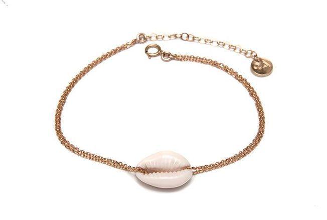 Bracelet de cheville pendentif coquillage