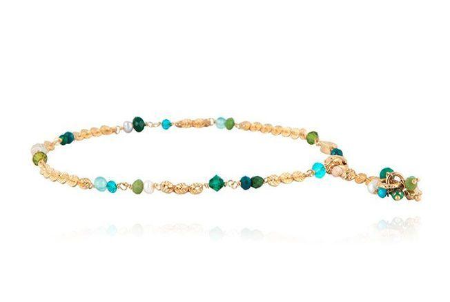 Bracelet de cheville pierres semi-précieuses