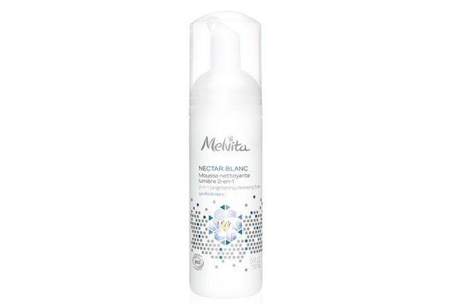 Nectar Blanc, Mousse Nettoyante Lumière 2-en-1, Melvita