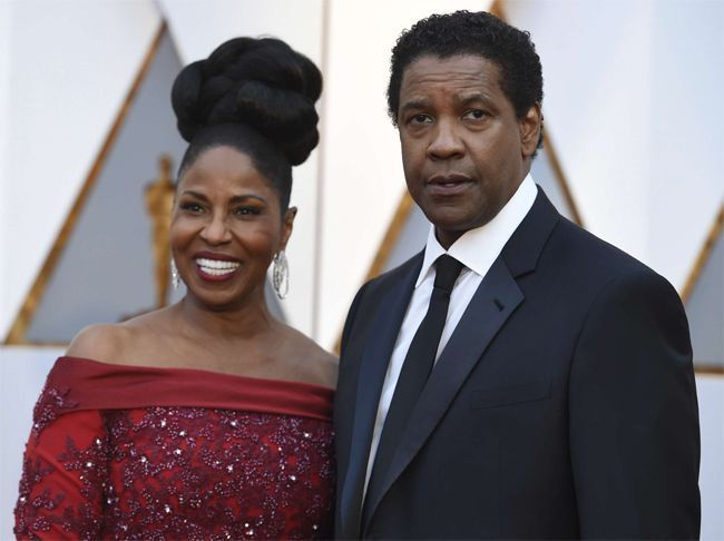 Denzel Washington et sa femme Pauletta Washington.