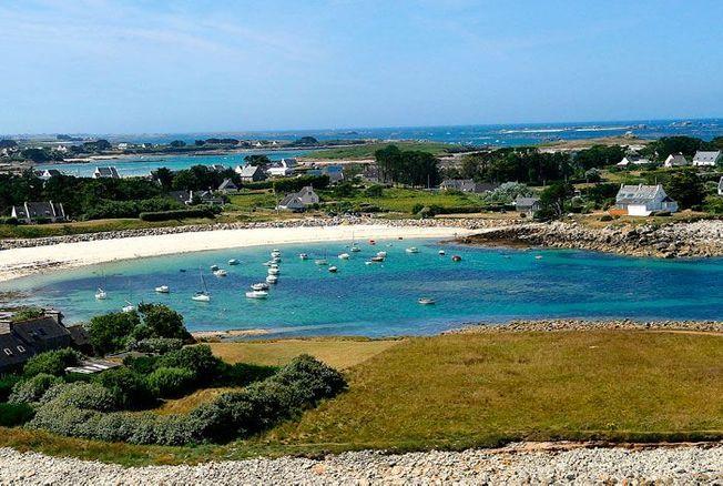 La plage de Moguéran en Bretagne