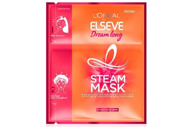 Elsève Dream Long, Steam Mask, Masque Cheveux Effet Spa L'Oréal Paris