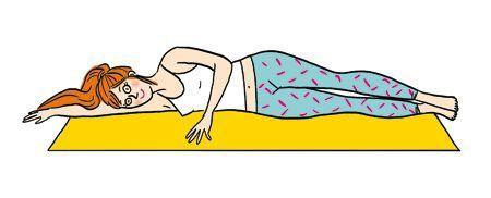 L'exercice des battements de jambes.