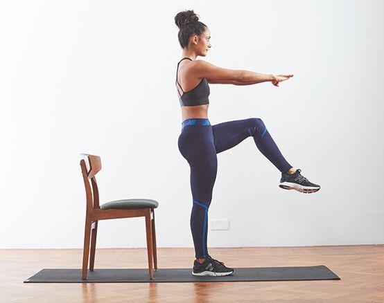 Un squat sur une jambe.