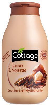 Le gel douche cacao et noisette Cottage.