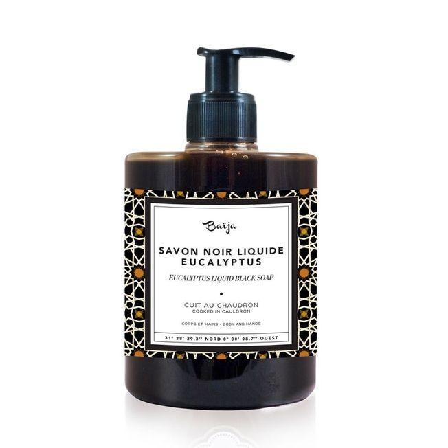 Le savon Noir Liquide Eucalyptus de Baïja.