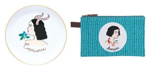 Les coupelles et pochettes signe astrologique Fragonard.