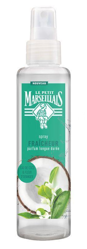 Spray Fraîcheur Eau de Coco & Fleur d'Oranger Le Petit Marseillais.
