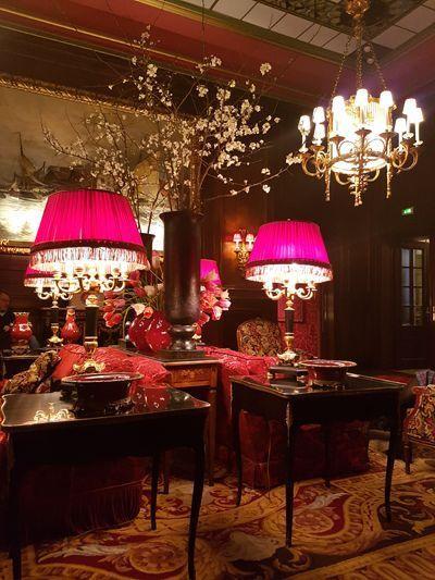 Le salon de thé de l'hôtel Sacher.