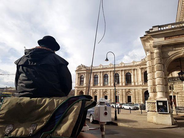 Un fiacre à Vienne.