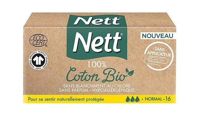 Tampons 100 % Coton Bio, Nett