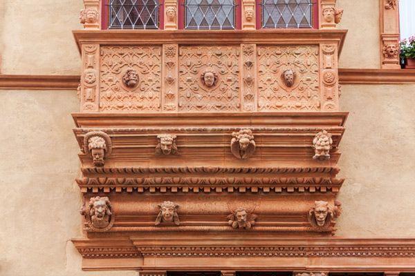 La Maison des têtes à Colmar.