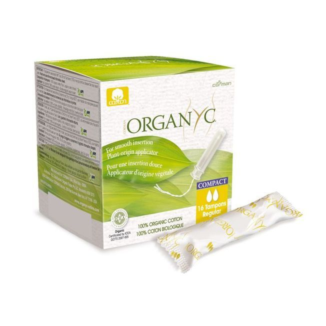 Tampons Compact Bio Avec Applicateur, Organyc