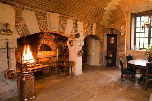 La cuisine du château de Bonnemare.