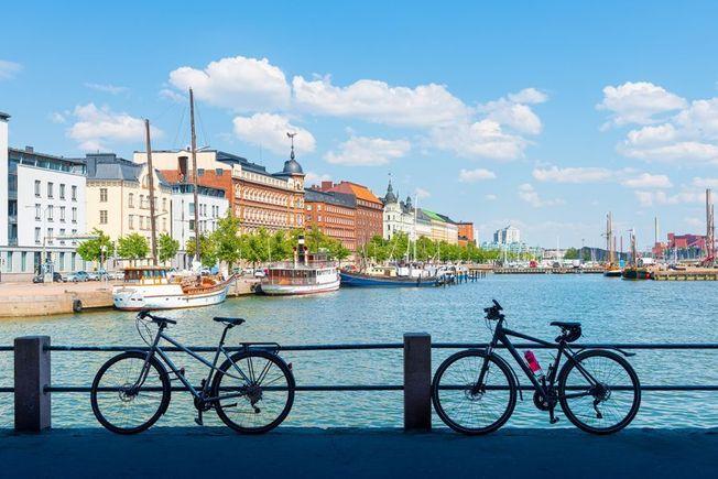 Helsinki en Finlande.