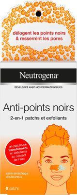 Anti points noirs 2 en 1 patchs neutrogena.