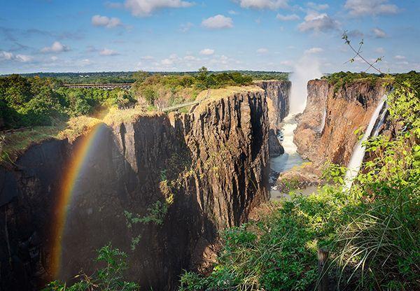 Les chutes Victoria en Namibie.