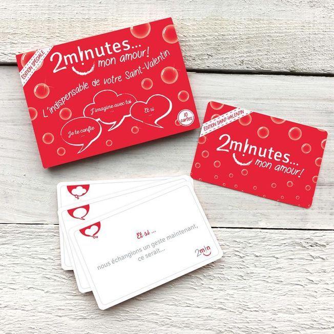 Le jeu de cartes 2 minutes mon amour pour la Saint-Valentin.