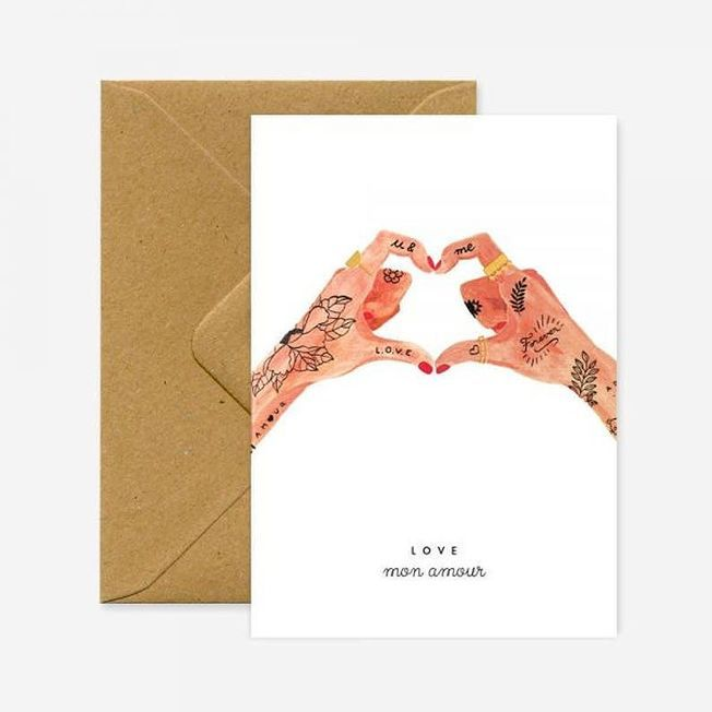 Carte Hands of Love Esty.