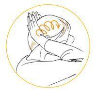 Un massage du cuir chevelu anti-chute.