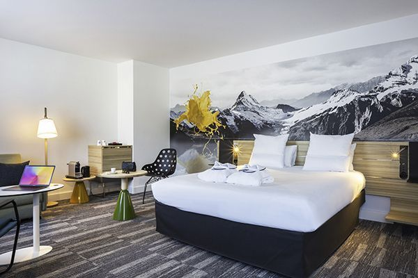 Une chambre du Novotel Annecy.
