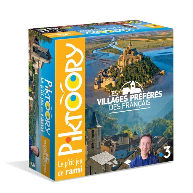 Le jeu de cartes Les villages préférés des Français.