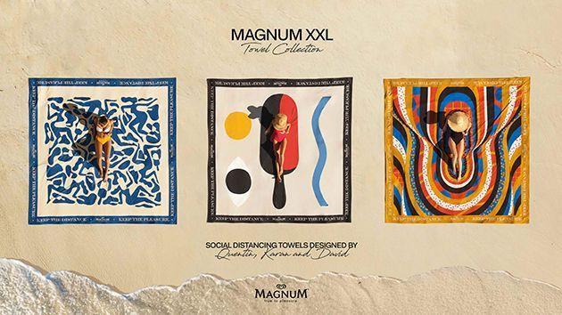 Les serviettes de plage Magnum.