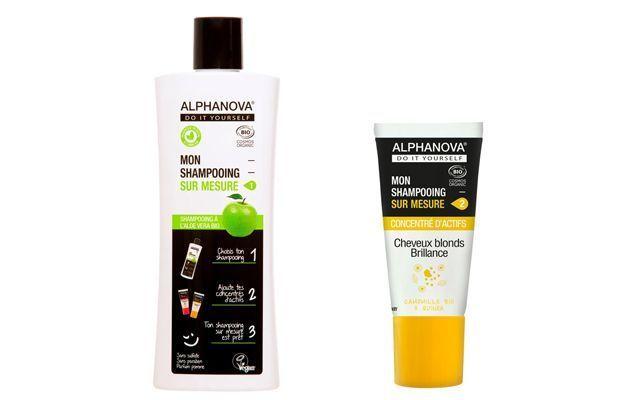 Les shampooings capillaires sur mesure Alphanova.