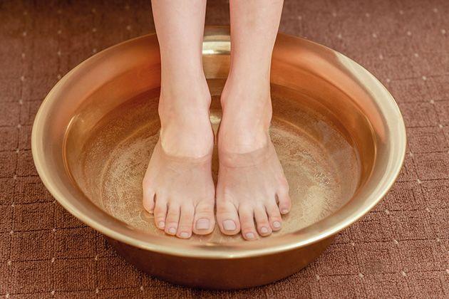 Un bain de pied relaxant.