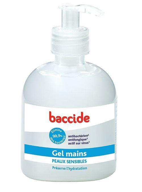 Gel pour les mains sensibles Baccide.