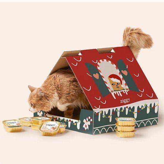 La Maison de Noël Ziggy pour chat.