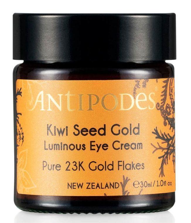 La crème contour des yeux Kiwi Seed Gold d'Antipodes.