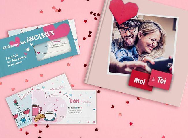 Le chéquier amoureux Flexilivre pour la Saint-Valentin 2021.