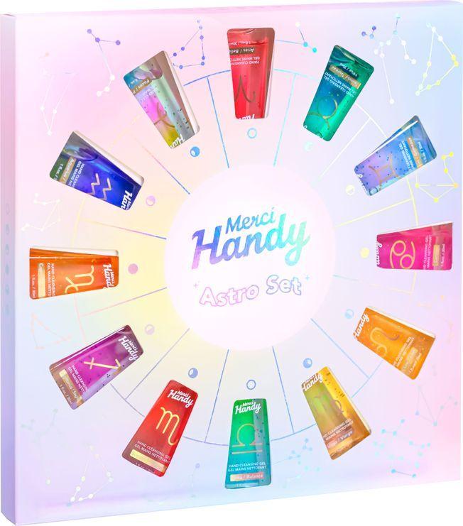Le pack de gels nettoyants mains astrologique Merci Handy.