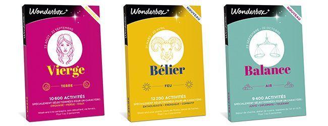 Les coffrets astro Wonderbox.
