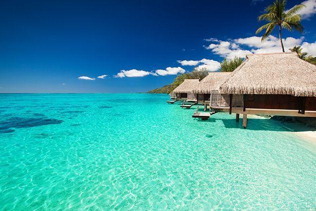 Le lagon de Bora Bora.