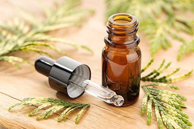 L'huile essentielle de Cyprès de Provence anti cellulite.