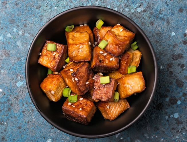 Du tofu grillé au barbecue.