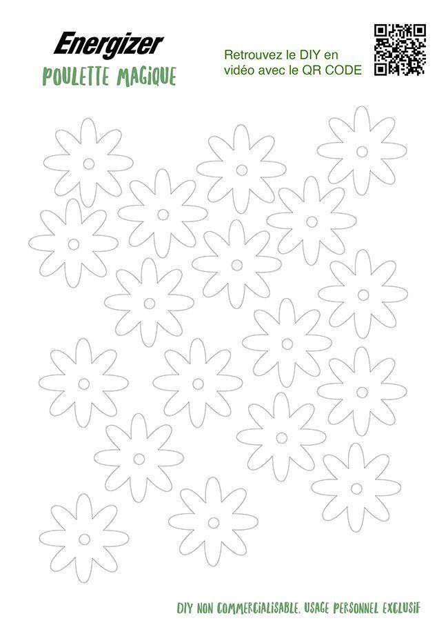 Des fleurs en papier à imprimer pour un tuto déco.